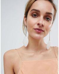 ASOS - Metallic Design Rough Cut Pastel Resin Drop Earrings - Lyst