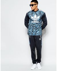 Adidas Originals - Shattered Stripe Ls Jersey In Blue Az3267 for Men - Lyst