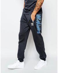 Adidas Originals - Shattered Stripe Track Pants In Black Az3272 for Men - Lyst