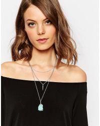 Nylon - Metallic Three Row Necklace - Lyst