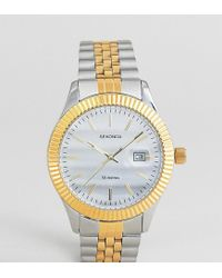 Sekonda Metallic Bracelet Watch In Silver/gold Exclusive To Asos for men