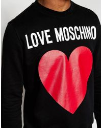 Love Moschino - Brown Sweater Large Heart Logo for Men - Lyst