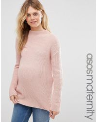 ASOS | Pink Ultimate Chunky Sweater With High Neck | Lyst
