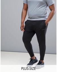 PLUS - Joggers sportivi super skinny neri di ASOS 4505 in Black da Uomo