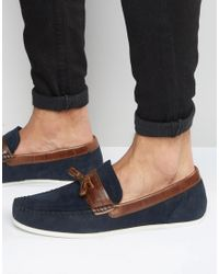 Red Tape | Blue Loafers In Navy Suede for Men | Lyst