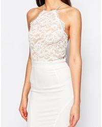 Jarlo - White Lace Halter Maxi Dress - Lyst