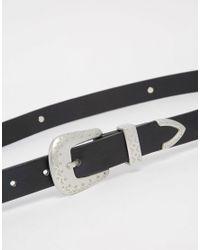 Glamorous - Western Belt With Metal Disks - Black - Lyst