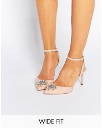 ASOS | Multicolor Society Wide Fit Embellished Heels | Lyst