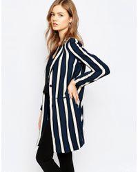 SELECTED Blue Striped Blazer