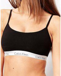Calvin Klein - Black Ck Cotton Bralette - Lyst