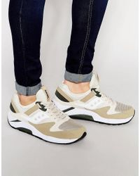 68a6be25f9ed Lyst - Saucony Aucony Grid 9000 Trainers In Beige S70077-46 in ...