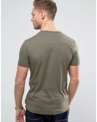 French Connection Green T-shirt With Concealed Pocket for men