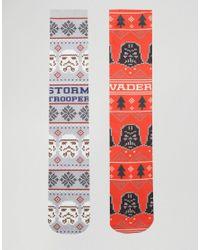 ASOS | Multicolor Christmas Socks With Star Wars Print 2 Pack for Men | Lyst