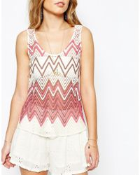 SuperTrash - Pink Toy Tank Top In Zig Zag - Lyst