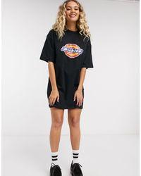 Dickies Black – Horseshoe – es T-Shirt-Kleid mit Logo
