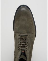 BOSS Orange Green By Hugo Boss Cultroot Suede Lace Up Boots for men