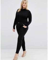 ASOS - Black Jumper With Turtle Neck - Lyst