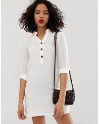Vestido camisero largo con diseño Vero Moda de color White