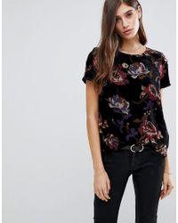 Vero Moda Black Bold Floral Printed Top