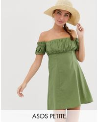 Minivestido ASOS de color Green