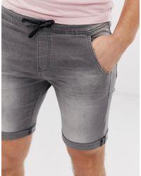 Pantaloncini di jeans con coulisse grigio chiaro di Tom Tailor in Gray da Uomo