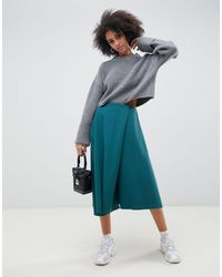 Falda midi ASOS de color Green