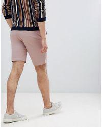 Chino corti rosa di Only & Sons in Pink da Uomo
