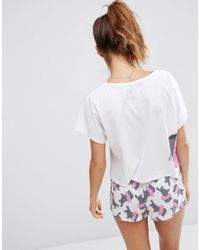 ASOS White Cute Hippo Tutu Tee & Short Pyjama Set