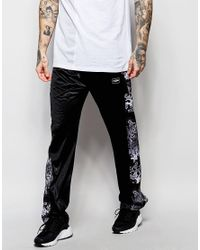 Jaded London | Black Joggers With Popper Leg Fastening for Men | Lyst