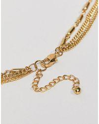 ASOS - Metallic Design Petal Disc Multirow Necklace - Lyst