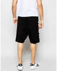 Izzue - Shorts With What Print - Black for Men - Lyst