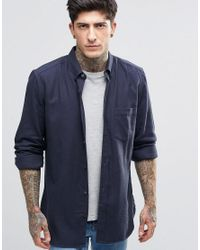 French Connection | Blue Plain Flannel Shirt for Men | Lyst