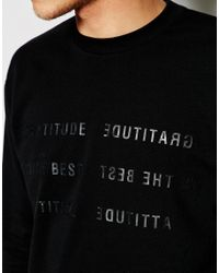 Izzue - Black Sweatshirt With Slogan for Men - Lyst