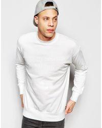 Izzue - Sweatshirt With Slogan - White for Men - Lyst