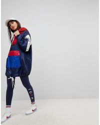 Tommy Hilfiger - Blue Retro Windbreaker Jacket - Lyst