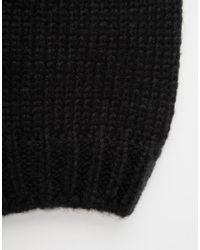 Hat Attack Black Rib Slouchy Beret