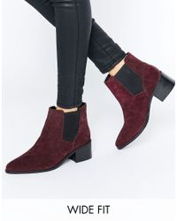 ASOS - Multicolor Reality Wide Fit Suede Ankle Boots - Lyst