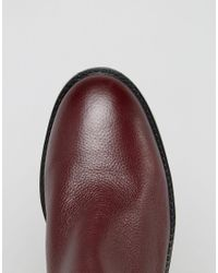 Faith - Red Binkie Oxblood Leather Chelsea Boots - Lyst