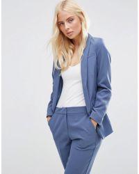 ASOS | Blue Premium Tailored Edge To Edge Blazer | Lyst