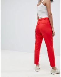 B.Young Red Slim Leg Pants