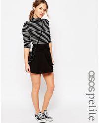 ASOS - Knot Front Skirt - Black - Lyst