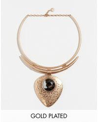 Pilgrim - Pink Statement Collar Necklace - Lyst