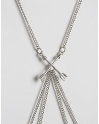 ASOS - Metallic Arrow Body Chain - Lyst