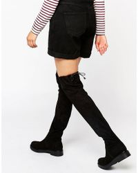 KG by Kurt Geiger Black Kg By Kurt Geiger Trooper Chunky Flat Suede Over The Knee Boots