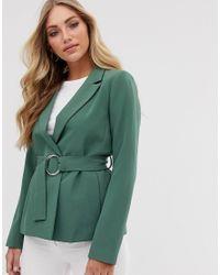 Vila Green Belted Blazer