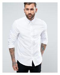 Однотонная Оксфордская Рубашка Классического Кроя -белый Ben Sherman для него, цвет: White