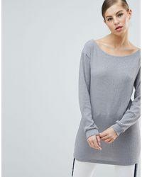 Платье-джемпер В Рубчик -серебряный AX Paris, цвет: Multicolor