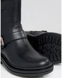 Calvin Klein - Black Jeans Flynn Leather Biker Boots - Lyst
