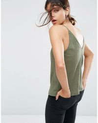 ASOS Green V Front And Back Cami Top