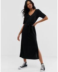 Vestido largo ASOS de color Black